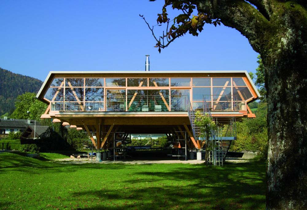 Holzskelettbauweise  Das Clubhaus | Ruderclub Wolfgangsee