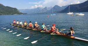RV Austria, Wien auf Wanderruderfahrt in Booten des RCW